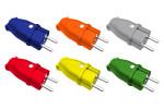 Wtyczki gumowe-kolorowe