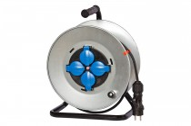 Przedłużacz na bębnie metalowym MIDI fi 290 4x230V OW 3x1,5 /15m/
