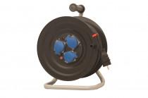 Przedłużacz na bębnie plastikowym 3x230V IP44 3x1,5 (OW) /25m/ z termikiem i kontrolką