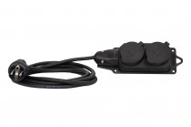 Przedłużacz listwowy gumowy 2x230V(2x2P+Z)  OW (H05RR-F) 3x1,5-30m