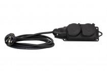 Przedłużacz listwowy gumowy 2x230V(2x2P+Z)  OW (H05RR-F) 3x2,5-10m