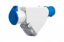 Adapter kempingowy wtyk 16A 3p przemysłowy, gniazdo 16A 3P przemysłowe, gniazdo tablicowe 230V IP44