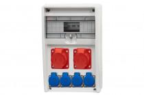 Rozdzielnica 12S ULISSE 2x32A 5p, 4x230V /12 modułów/
