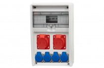Rozdzielnica 12S ULISSE 16A 5p, 32A 5p, 4x230V /12 modułów/