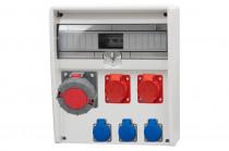 Rozdzielnica 17S ULISSE 2x16A 5p, 63A 5p, 3x230V /17 modułów/