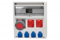 Rozdzielnica 17S ULISSE 16A 5p, 32A 5p, 63A 5p, 4x230V /17 modułów/