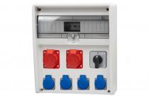 Rozdzielnica 17S ULISSE  2x16A 5p, 4x230V, 0/1   /17 modułów/