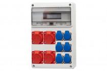 Rozdzielnica LEGATO 16M 2x16A 5p, 2x32A 5p, 6x230V /16 modułów/