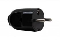 Универсальный штепсель простой и угловой черный
