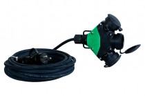 Разветвитель резиновый 3x250В 16A резиновый штепсель 5м IP44