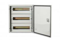 Szafa metalowa 500x400x200 mm - 48 modułów IP66 /  3 rzędy po 16 modułów