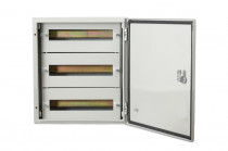 Szafa metalowa 600x600x250 mm - 78 modułów IP66 / 3 rzędy po 26 modułów