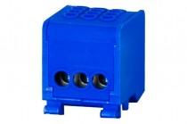 Клеммная колодка LZ в корпусе 3x16мм кв. - голубой