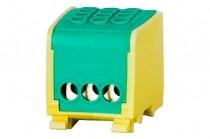 Клеммная колодка LZ в корпусе 3x16мм кВ. – желто-зеленый
