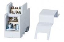 Однополюсный распределительный блок 160A- серый