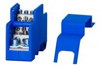 Однополюсный распределительный блок 160A- голубой