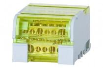 Четырехполюсный распределительный блок 100A- 7 отверстий