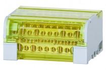 Четырехполюсный распределительный блок 125A- 11 отверстий