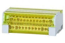 Четырехполюсный распределительный блок 125A- 15 отверстий