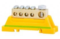 Zacisk ochronny 1x25mm2, 4x10mm2 - żółto/zielony