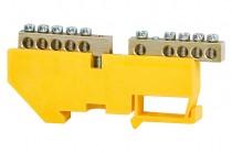 Клеммная колодка  2x5-модульная 2x5x16 мм кв. -желтая