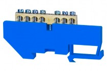 Клеммная колодка  7- модульная 7x16 мм кв. - голубая