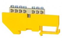 Клеммная колодка  7- модульная 7x16 мм кв. - желтая