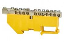 Клеммная колодка  11- модульная 11x16 мм кв.,1x35 мм кв.- желтая