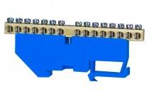 Клеммная колодка  15- модульная 15x16 мм кв. - голубая