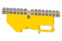 Клеммная колодка  15- модульная 15x16 мм кв. - желтая