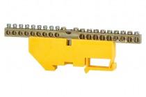Клеммная колодка  18- модульная 18x16 мм кв.,1x35 мм кв.- желтая