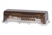 Szyna wyrównująca potencjał 7x25 mm2, 1x50mm2, płaskownik 30x4mm - mocowanie na stałe/na szynę