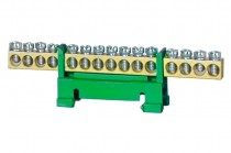 Listwa zerowa 15-modułowa niska podstawa - zielona