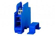 Однополюсный распределительный блок 60A- голубой корпус
