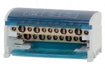 Двухполюсный распределительный блок 125A- 2х11 отверстий