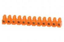 Клеммная колодка 12-местная 6 мм кв. оранжевая