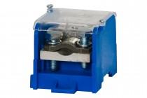 Blok rozdzielczy WBR 250A 1x120 / 1x50, 6x16 niebieski