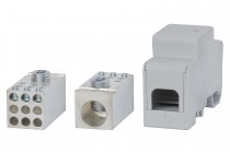 Blok rozdzielczy jednobiegunowy 250A 120 / 9x16 - szary