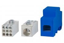 Blok rozdzielczy jednobiegunowy 250A 120 / 9x16 - niebieski