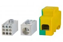 Blok rozdzielczy jednobiegunowy 250A 120 / 9x16 - żółto/zielony