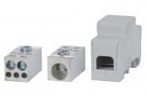 Blok rozdzielczy jednobiegunowy 250A 120 / 2x50, 3x16 - szary
