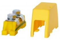 Zacisk ochronny 2x35mm2 - żółto/zielony + osłona