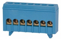 Listwa zerowa 7-modułowa 7x16mm2 niebieska IP20