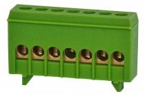 Listwa zerowa 7-modułowa 7x16mm2 zielona IP20