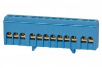 Listwa zerowa 12-modułowa 12x16mm2 niebieska IP20