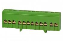 Listwa zerowa 12-modułowa 12x16mm2 zielona IP20
