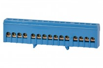 Listwa zerowa 15-modułowa 15x16mm2 niebieska IP20