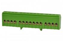Listwa zerowa 15-modułowa 15x16mm2 zielona IP20