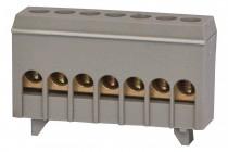 Listwa zerowa 7-modułowa 7x16mm2 szara IP20