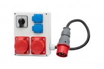 Rozdzielnica R-240 2x32A 5p, 2x230V + przewód, L/P